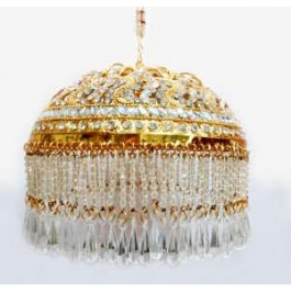 Gold plated 6 inches Chattar With White studs