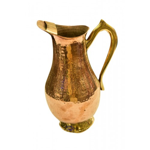 Jug Copper With brass handle  1.25lt