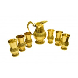 Lemon set American brass